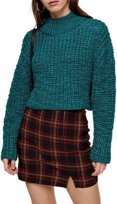 Topshop Crop Boucle Sweater
