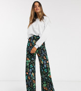 Asos Tall DESIGN Tall wide leg pants in floral print