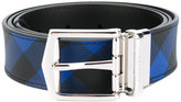 Burberry checked belt - men - Calf Leather/PVC - 80