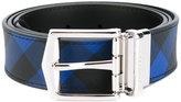 Burberry checked belt - men - PVC/Calf Leather - 80