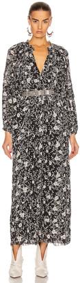 Etoile Isabel Marant Estine Dress in Black & Ecru | FWRD