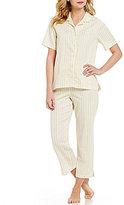 Cabernet Striped Sateen Pajamas