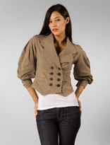 Dean 3/4 Sleeve Double Breasted Captain's Jacket in Teak