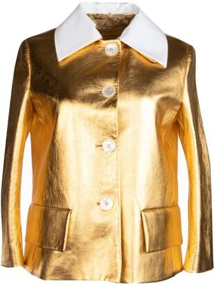 Prada Metallic Cropped Jacket