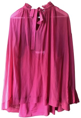 See by Chloe Burgundy Silk Top for Women