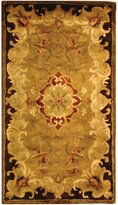 Safavieh Classic Collection CL234B Handmade Gold and Cola Wool Area Rug, 2 feet 3 inches by 4 feet