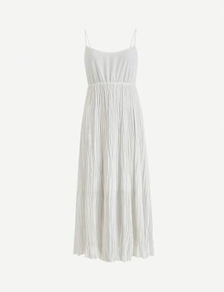 AllSaints Laze 2-in-1 pleated cotton-knit midi dress