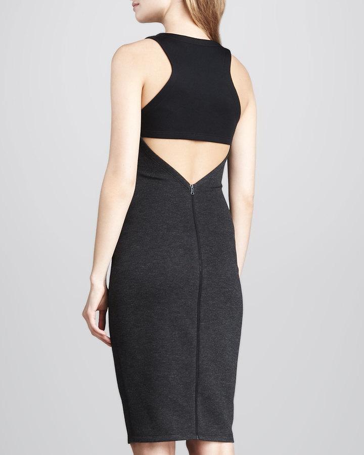 Robert Rodriguez Formfitting Back-Cutout Dress