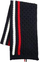 Thom Browne Merino Wool Cable Knit Scarf