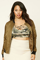 Forever 21 FOREVER 21+ Plus Size Camo Strappy Bralette