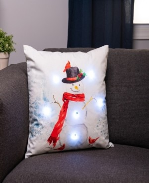 Protect A Bed Snowman Snow Light Up Decorative Throw Pillow