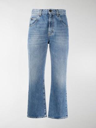 Saint Laurent Cropped Mid-Rise Jeans