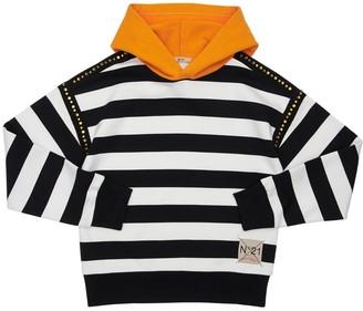N°21 Striped Cotton Sweatshirt Hoodie