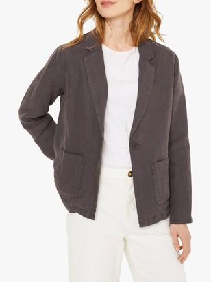 White Stuff Gowan Linen Blazer, Charcoal