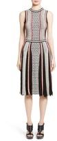 Oscar de la Renta Women's Pleat Jacquard Dress