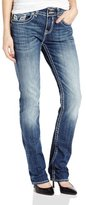 Vigoss Women's Chelsea Straight-Leg Jean with Frame Detail on Pocket