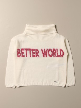 Liu Jo Pullover In Wool With Better World Writing