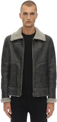 Salvatore Santoro Leather Jacket W/ Shearling Lining