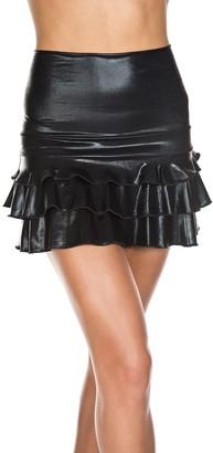 Music Legs Women's High Waisted Mini Ruffles Skirt