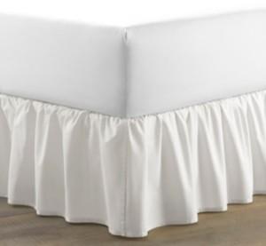 Laura Ashley King Solid Ruffle White Bedskirt Bedding
