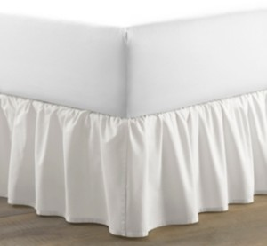 Laura Ashley Queen Solid Ruffle White Bedskirt Bedding