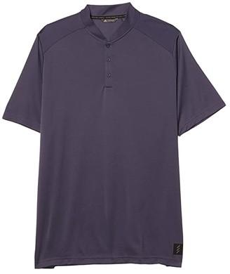 adidas Adicross No Show Polo Shirt (Black Melange) Men's Clothing