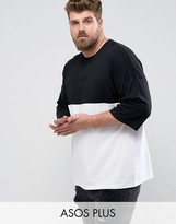 Asos PLUS Oversized T-Shirt With Color Block