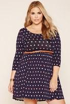 Forever 21 FOREVER 21+ Plus Size Heart Mini Dress
