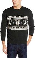Dockers Reindeer and Snowflake Crew Sweater