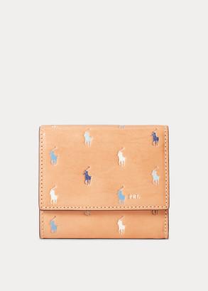 Ralph Lauren Leather Pony Compact Wallet