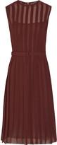 Bottega Veneta Pleated silk-georgette dress