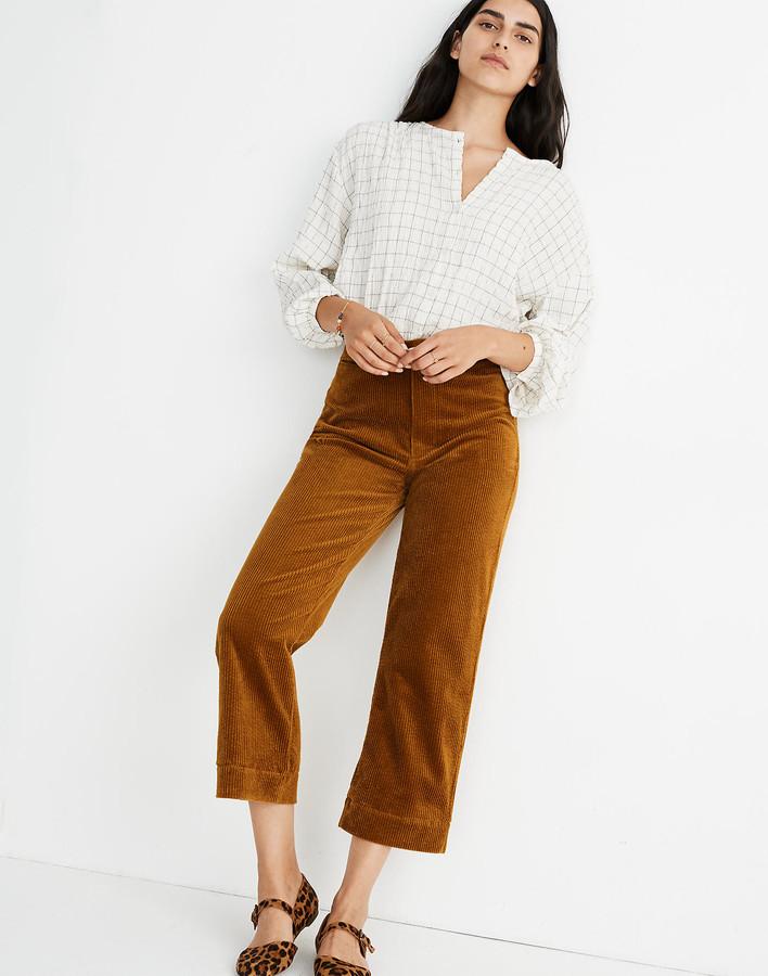 Madewell Slim Emmett Wide-Leg Crop Pants: Corduroy Edition