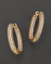Bloomingdale's Diamond Pavé Inside-Out Hoop Earrings in 14K Yellow Gold, .75 ct. t.w.