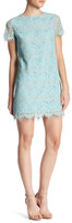 Cynthia Steffe Marley Short Sleeve Crocheted Lace Shift Dress