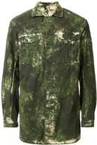11 By Boris Bidjan Saberi washed camouflage print jacket