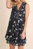 Umgee USA Navy Floral Dress
