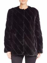 Zandra Rhodes Mink & Suede Coat