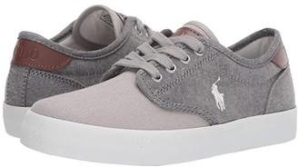 Polo Ralph Lauren Kids Luwes (Big Kid) (Grey Chambray/Canvas/White Pony) Boy's Shoes