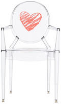 Kartell Children's Lou Lou Ghost Chair - Heart