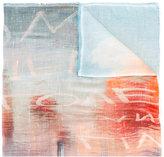 Faliero Sarti lettering print scarf - women - Silk/Modal - One Size