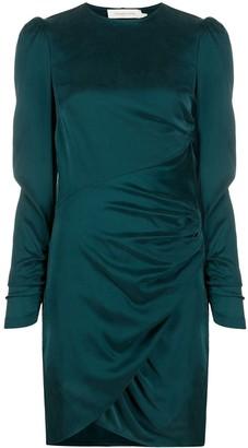 Zimmermann Ruched Neck-Tie Dress