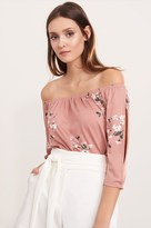 Dynamite Off-The-Shoulder Knit Top