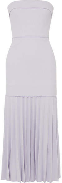 Dion Lee Strapless Pleated Crepe Maxi Dress - Lilac