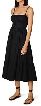 Faithfull The Brand Alexia Cotton Midi Dress