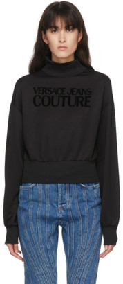 Versace Jeans Couture Black Logo Turtleneck Sweatshirt