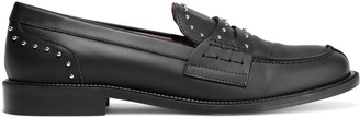 Red(V) Studded Leather Loafers