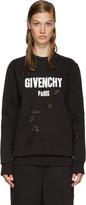 Givenchy Black Destroyed Logo Pullover