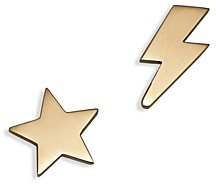 Zoë Chicco 14K Yellow Gold Mixed Star & Lightning Bolt Stud Earrings
