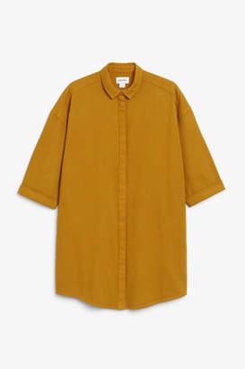 Monki Hidden button shirt dress