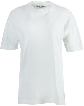 Acne Studios Over-sized Embroidered Logo T-shirt Optic White